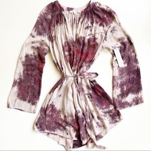 Young Fabulous & Broke Purple Tie Dye Shirt Dress